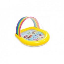 Piscina Gonfiabile Per Bambini 147x130x86 Cm Con Parasole Arcobaleno Intex 57156
