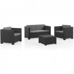 Set di mobili da giardino Modello Diva Confort Graphite SP Berner 55440