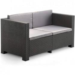 Set di mobili da giardino Modello Diva Confort Graphite SP Berner 55440 | Piscinefuoriterraweb