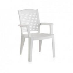 Sedia da giardino modello metallo bianco SP Berner 55154