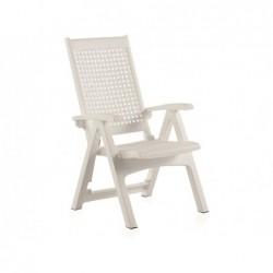 Muebles de Jardín Sillón Multiposición Modelo Metal Blanco SP Berner 55350