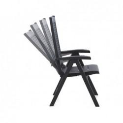 Arredo Giardino Poltrona Multiposizione Modello Metallo Antracite SP Berner 55351 | Piscinefuoriterraweb