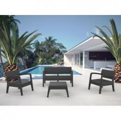 Mobili da giardino Modello Miami Modello Antracite SP Berner 55393 | Piscinefuoriterraweb