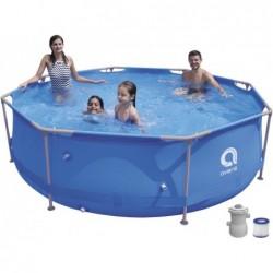 Piscina Smontabile con Filtro 1136 L. 17798EU Super Round Pool Set 300x76 cm.