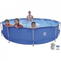 Piscina Smontabile con Filtro 1136 L. Jilong 17799EU Super Round Pool Set 360x76 cm.
