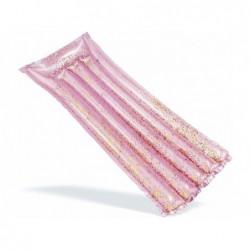Materassino Gonfiabile 170x53 Cm Rosa Con Glitter Intex 58720