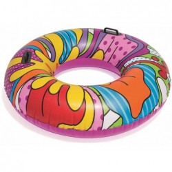 Salvagente Pop Art 91 Cm Ciambella Gonfiabile Colorata Bestway 36125