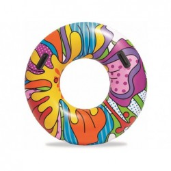 Salvagente Pop Art 91 Cm Ciambella Gonfiabile Colorata Bestway 36125 | Piscinefuoriterraweb