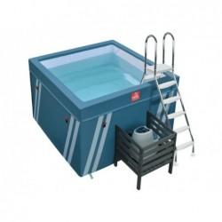 Piscina Mini Fit S Pool Per Aquafitness Da 128x184x184 Cm