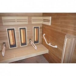Sauna Hybrid De Movilidad Reducida Da 4 Persone 190 Cm | Piscinefuoriterraweb